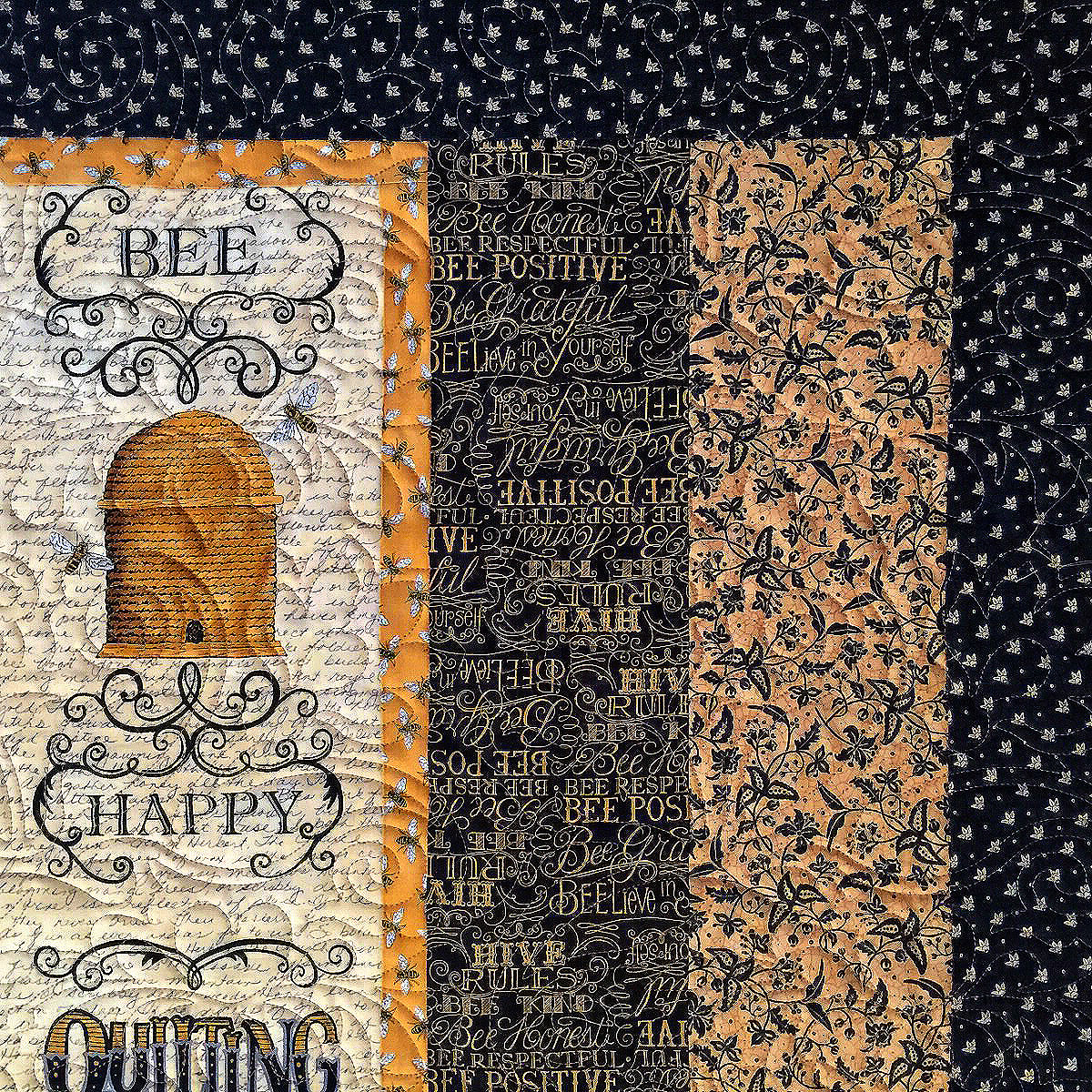 Christal's Bees-Paisley Brocade by Anne Bright