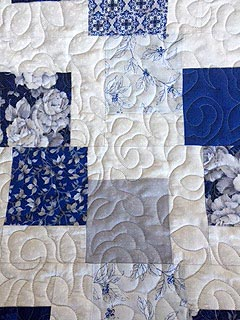 Falling Squares Quilt-Field of Flowers Pattern