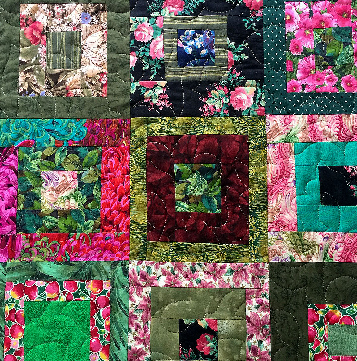Janet's Floral Quilt - Rebecca's Rose pattern