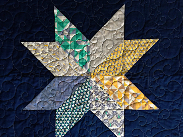 Patty's Star Quilt-Elegant Stars Design by Anne Bright
